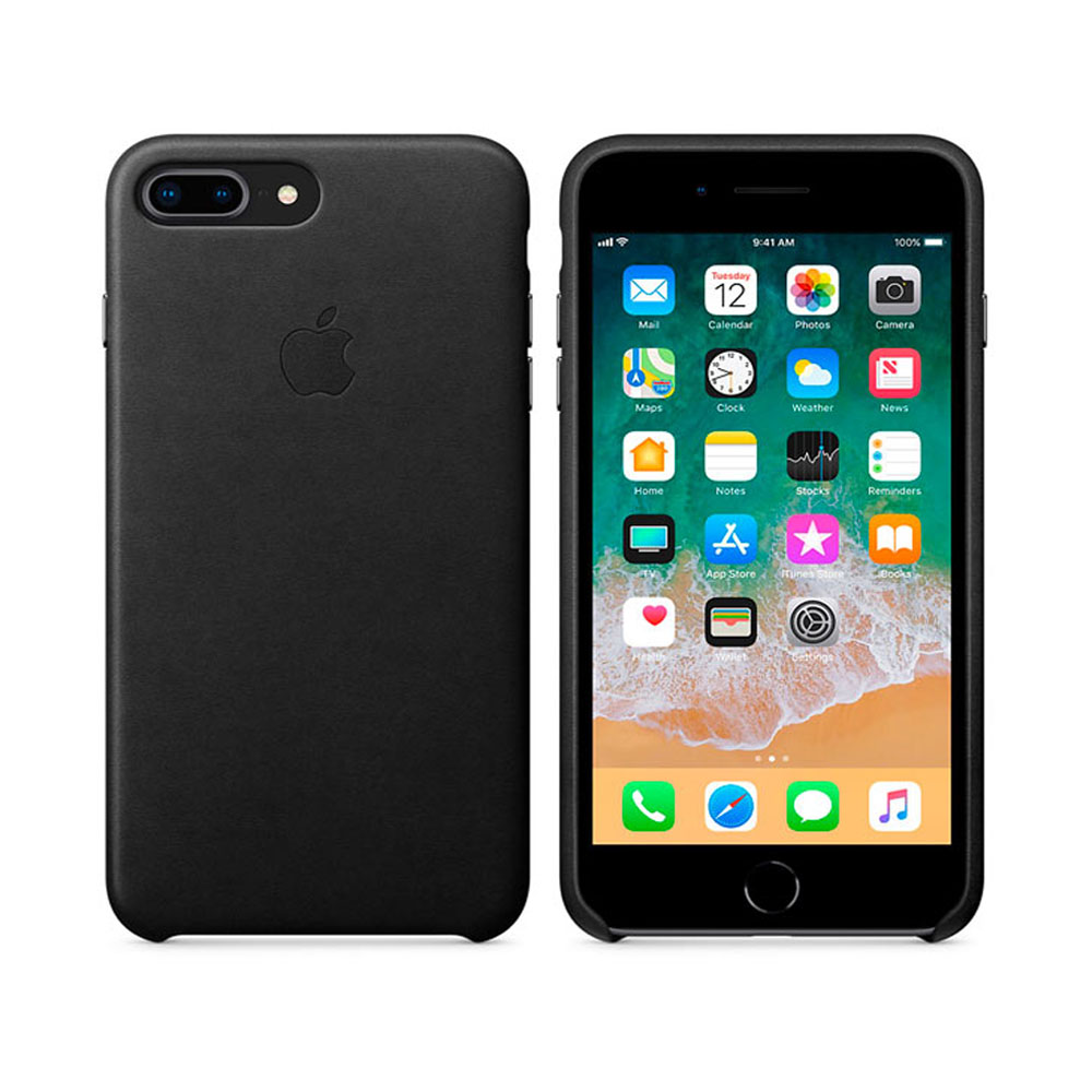 Чехол IPhone 8 Plus/7 Plus Leather Case MQHM2ZM/A - Black