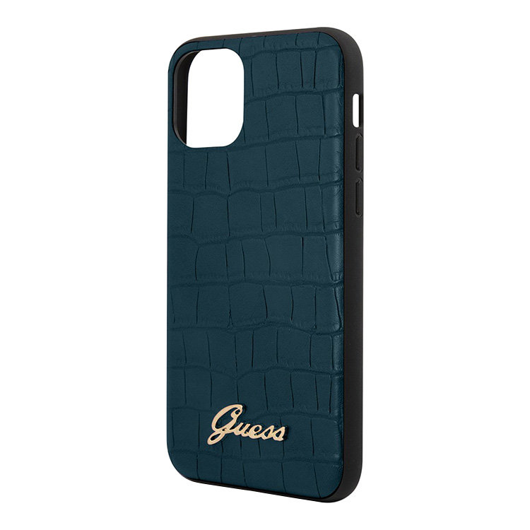 Чехол Guess IPhone 11 Animal Croco collection (темно-синий)
