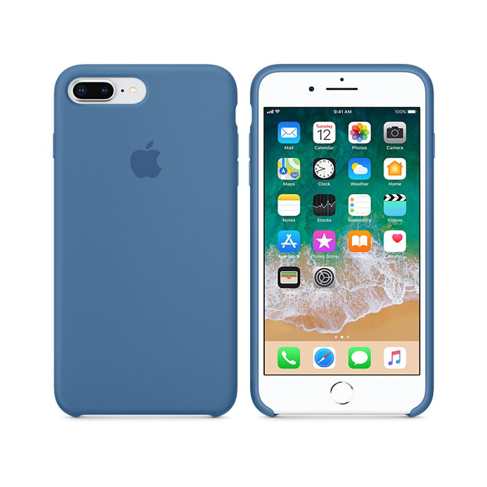 Чехол IPhone 8 Plus/7 Plus Silicone Case MRFX2ZM/A Denim blue