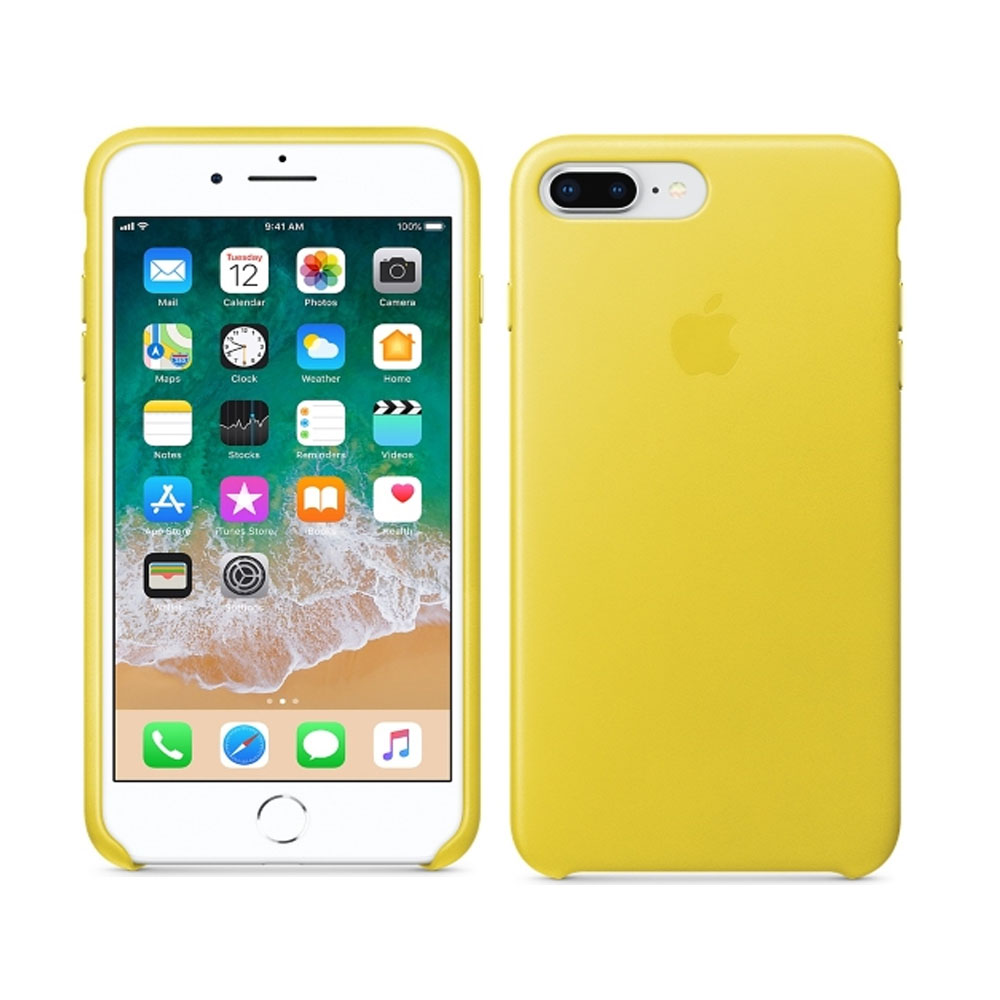 Чехол IPhone 8 Plus/7 Plus Leather Case MRGC2ZM/A Spring Yellow