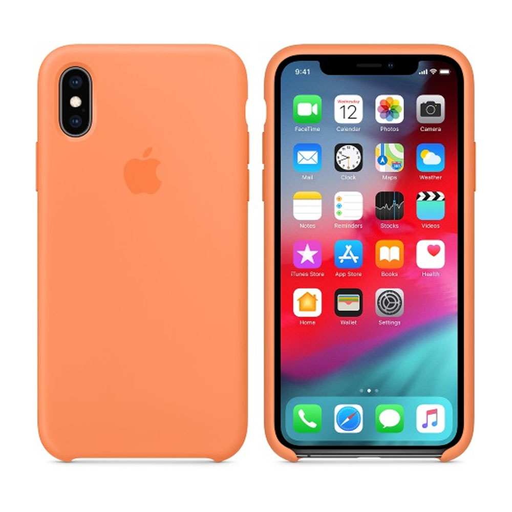 Чехол IPhone XS Silicon Case MVF22ZM/A Papaya