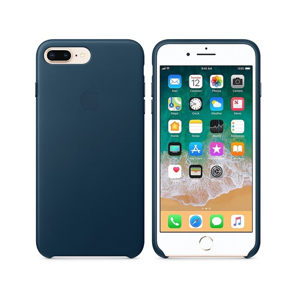 Чехол IPhone 8 Plus/7 Plus Leather Case MQHR2ZM/A Cosmos Blue